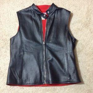 Pendleton Leather Zip Vest